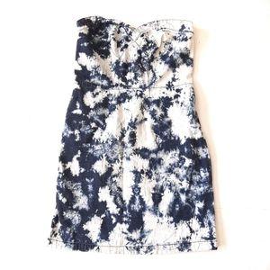 Paris Blues Acid Wash Denim Strapless Dress